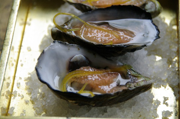 South Australian oyster with ruby grapefruit and shallot